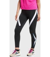 legging reebok wor vector logo tight negro - calce ajustado