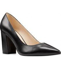 zapato cuero cara negro mujer nine west