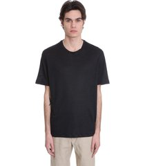 ermenegildo zegna t-shirt in black linen