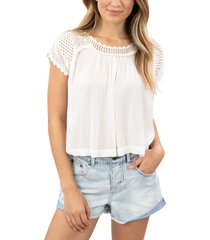 women's rip curl alana crop top, size small - white