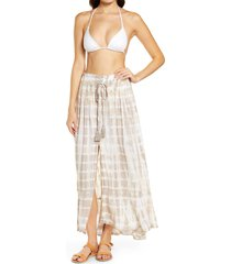 women's tiare hawaii dakota cover-up skirt, size one size - beige