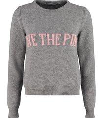 alberta ferretti wool and cashmere pullover