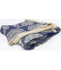 "seashell tri-weave matelasse cotton throw blanket, 50"" x 70"""