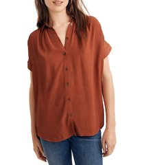 women's madewell central drapey shirt