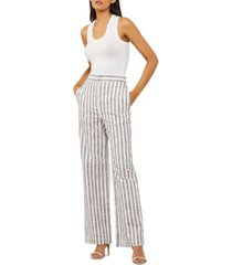 bcbgmaxazria striped wide-leg pants