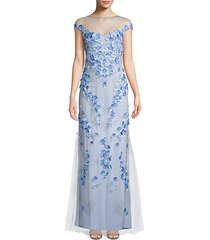 beaded 3d floral gown