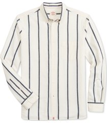 brooks brothers men's indigo yarn-dye striped shirt, created for macy's