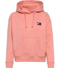 tjw tommy badge hoodie hoodie trui roze tommy jeans