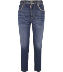 dsquared2 chain trimmed 5 pockets jeans