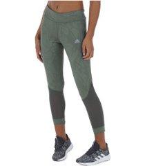 calça legging adidas own the run tight - feminina - cinza esc/cinza