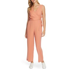 women's 1.state v-neck wide leg twill jumpsuit