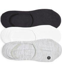 zella assorted 3-pack no-show sneaker socks, size 6-8.5 in white multi at nordstrom