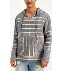 sun + stone men's textured jacquard popover hoodie, created for macy's