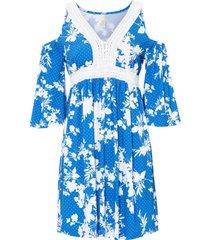 abito con cut-out e inserto di pizzo (blu) - bodyflirt boutique