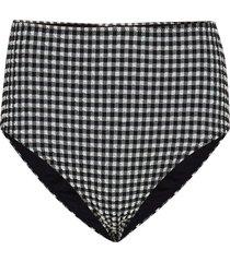 seersucker swimwear bikinitrosa svart ganni