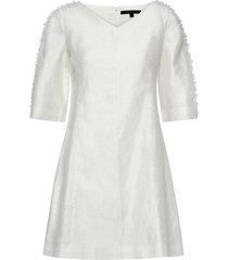 dominica cluster 3/4 slv dress kort klänning vit french connection