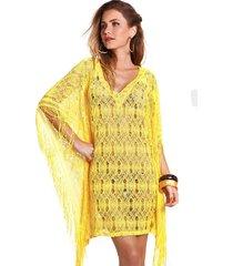 tunica empress brasil fringe amarelo