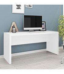 mesa para escritório branco me4109 - tecno mobili