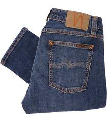 nudie jeans skinny lin denim jeans - mid authentic power 112865