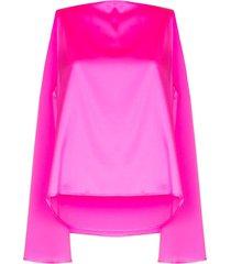 bernadette judy cape-effect top - pink