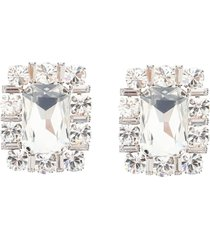alessandra rich square crystal clips earrings
