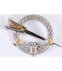 18k gold & silver tara brooch