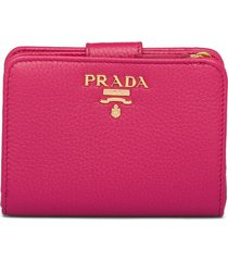 prada small two-tone wallet - pink