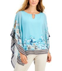 jm collection plus size marianna scarf poncho, created for macy's