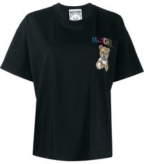 moschino beaded teddy bear t-shirt - black