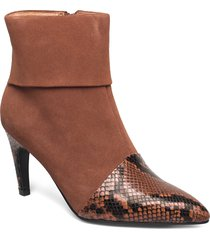 vanessa fold down shoes boots ankle boots ankle boot - heel brun shoe the bear