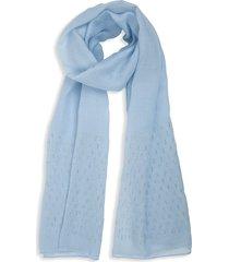 bindya women's embellished long scarf - grey blue