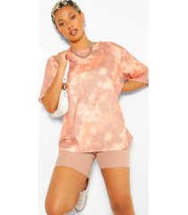 tie dye oversized elbow t shirt, stone