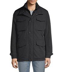 stand collar cargo jacket