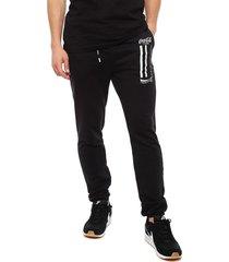 pantalón de buzo coca-cola negro - calce regular
