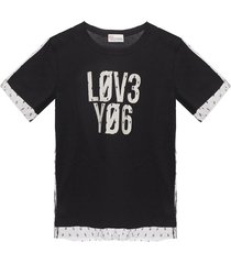 tulle-trimmed t-shirt