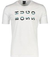 hugo boss tiburt t-shirt opdruk wit ronde hals