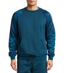 mixed media popover sweatshirt