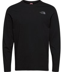 m l/s easy tee t-shirts long-sleeved svart the north face