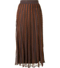 alexis zea scalloped knit skirt - brown