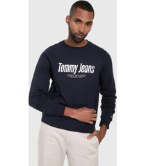 buzo azul oscuro-blanco tommy jeans