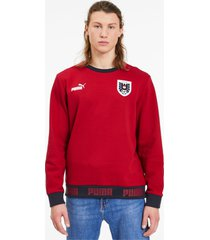 austria ftblculture herensweater, rood/wit, maat xs | puma