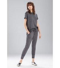 new sweat pant pajamas, women's, grey, cotton, size l, josie