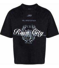 val kristopher rain city print t-shirt - black