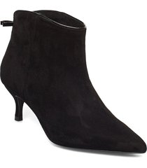 casie suede shoes boots ankle boots ankle boot - heel svart custommade