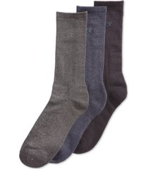 calvin klein men's 3-pack cotton cushion sole socks