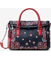 boho handbag - blue - u