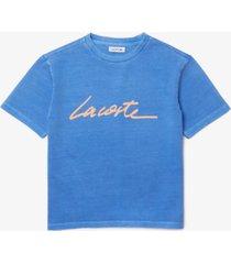 lacoste cotton logo t-shirt