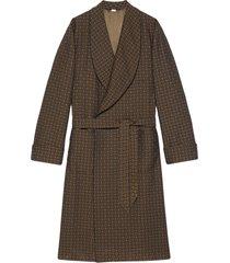 gucci wraparound tie-waist coat - brown