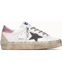 golden goose deluxe brand sneakers hi star net colore bianco rosa