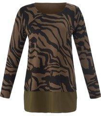 trui met lange mouwen en zebraprint van emilia lay multicolour